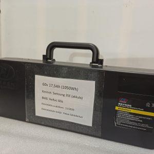 60v 17,5Ah ( 1050Wh ) salkkuakku poistohintaan