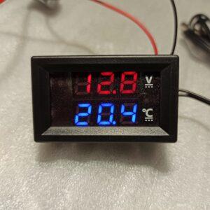 Jännite ja lämpötila mittari 4-28v