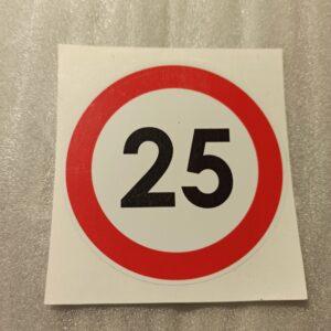 Nopeusrajoitus tarra 25km/h
